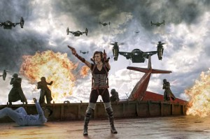Resident Evil 5 Milla Jovovich Helikopter Bild